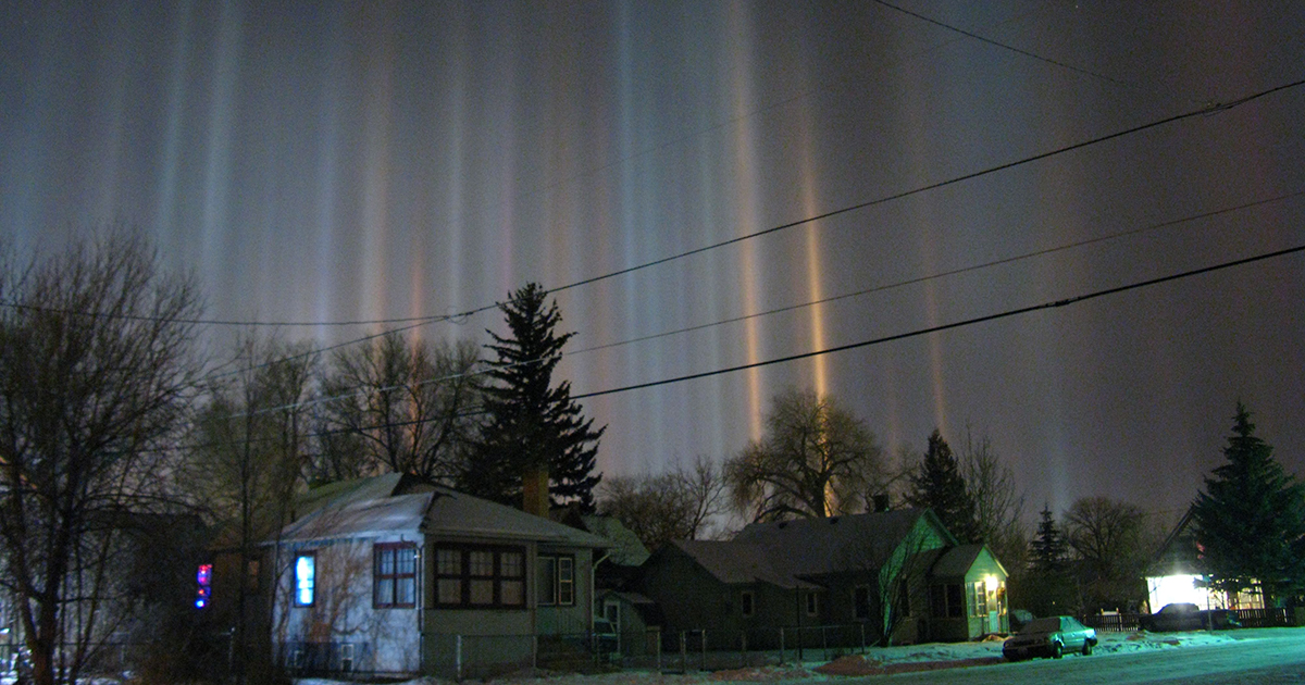 What exactly are light pillars?