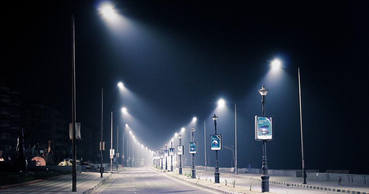 How many watts does a street light use?