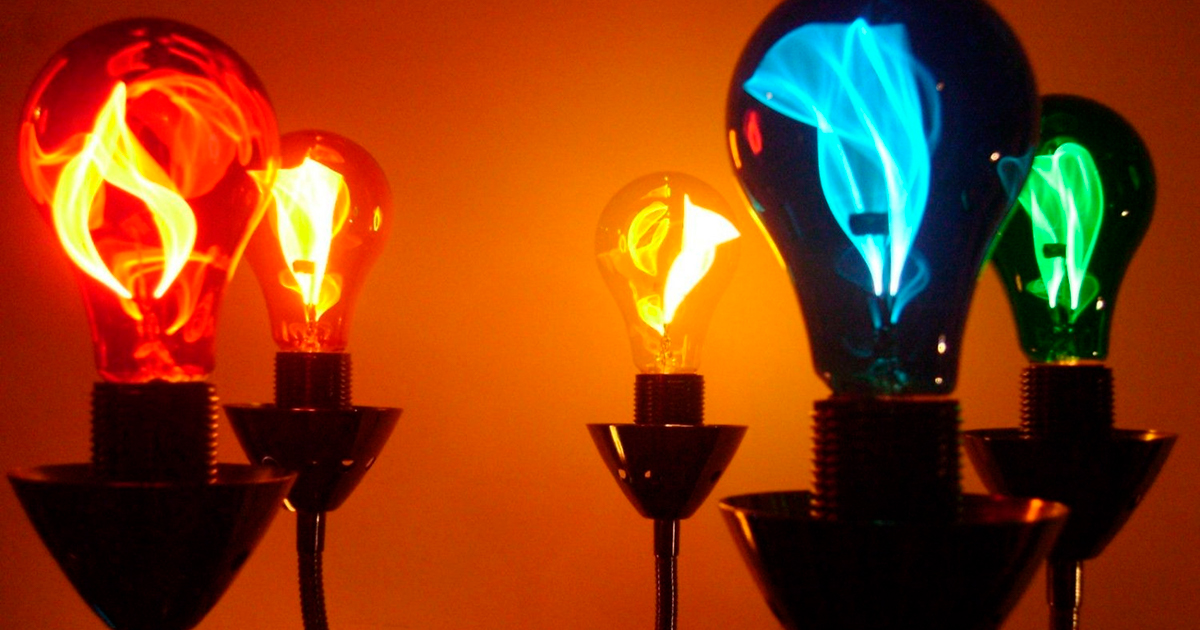 What is a flicker-flame light bulb?